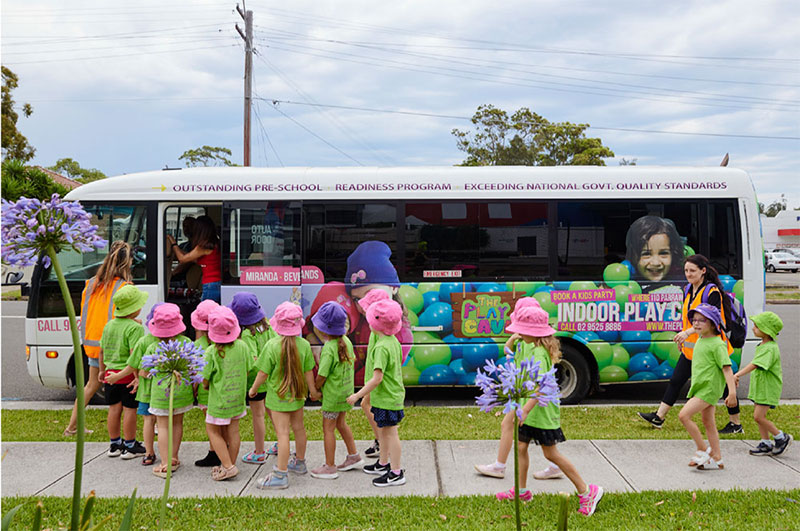 The introduction of our Bear Child Care Bus in April 2017, has further broadened our Bear Child Care children's