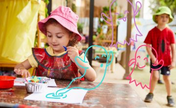 The experiences they share at BearChildCare   ~ Expressive Communication  ~ Exploring  ~ Balance