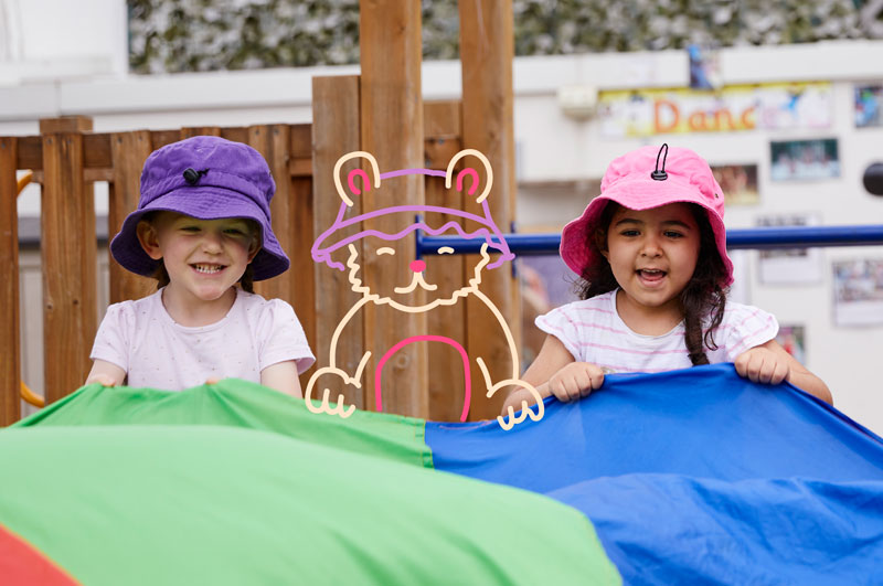At Bear Child Care Bear Centres, we believe in the philosophy of Teamwork. The success of our Team, not only involves members of our staff & children, but in partnering with the parents & families of our children – by complementing the care they receive at home, reflected in our home like setting & free flow program.